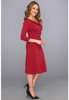 Pendleton Three-Quarter Sleeve Drape Neck Dress