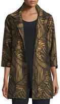 Caroline Rose Waves Jacquard Party Jacket, Plus Size