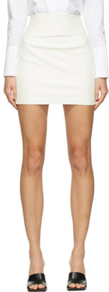 GAUGE81 Off-White Faux-Leather Umea Miniskirt