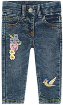 MonnaLisa Girl slim fit jeans with embroideries