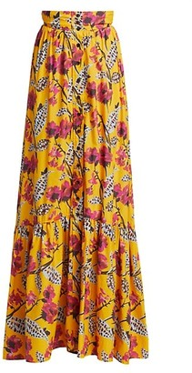 A.L.C. Lillie Printed Maxi Skirt