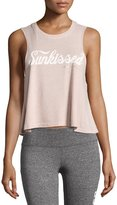 Spiritual Gangster Sunkissed Script Crop Tank, Light Pink