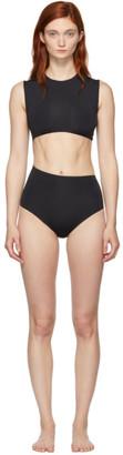 Haight Black Diagonal One-Piece Swimsuit