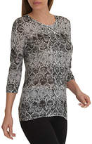 Betty Barclay Fine Knit Muted Floral Tunic Top, Grey