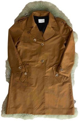 Sandro Brown Cotton Trench Coat for Women