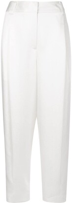 Tibi Celia sculpted cropped trousers