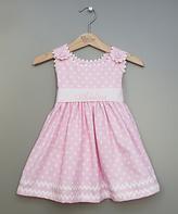 Princess Linens Pink Polka Dot Sash Personalized Dress - Infant Toddler & Girls