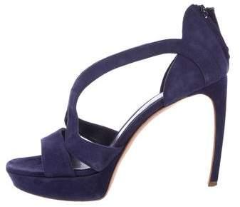 Alexander McQueen Suede Platform Sandals
