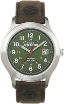 Timex Expedition Field Metal Mens Brown Leather Strap Watch T400519J