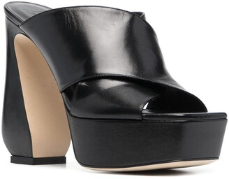 Si Rossi Leather Platform Mules