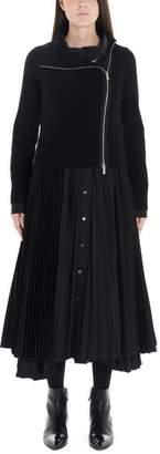 Sacai Pleated Midi Dress