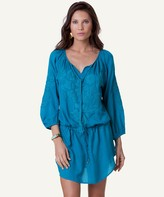 Vix Paula Hermanny Solid Blue Ocean Amy Caftan