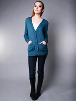 Beckerman Teal Bear Cardigan