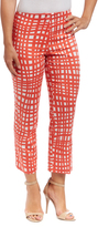 Coral & White Ankle Pants