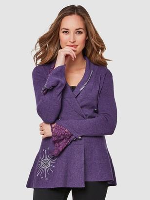 Joe Browns Fluted Sleeve Knit - Purple