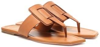 Roger Vivier Viv' Sellier leather sandals