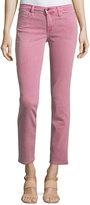 Joe's Jeans Straight-Leg Twill Ankle Pants, Raspberry