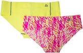 Neon Pink Zebra & Laser Lemon No-Show Hipster Set