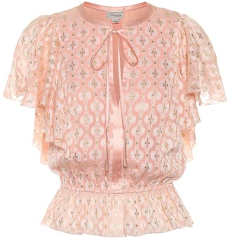 Temperley London Suki silk blend blouse