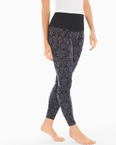 Soma Intimates Slimming Leggings Baroque Jacquard Black
