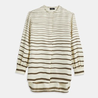 Theory Striped Popover Tunic