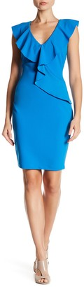 Alexia Admor Asymmetric Ruffle Sheath Dress (Regular & Plus Size)