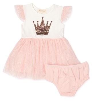 Btween Baby Girls Tulle Dress & Diaper Cover