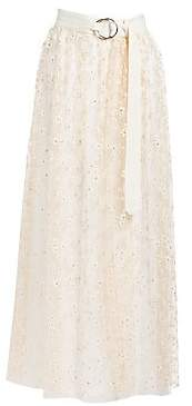 Rachel Comey Women's Puff Tulle Fetes Floral Overlay Skirt
