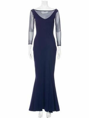 Chiara Boni Bateau Neckline Long Dress Blue