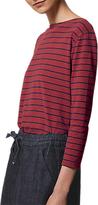 Toast Breton Stripe Boat Neck T-Shirt, Boysenberry/Navy