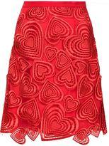 Christopher Kane embroidered heart appliqué skirt