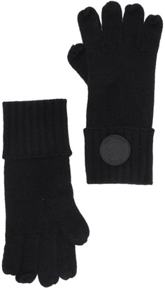 Michael Kors Rib Rubber Patch Gloves