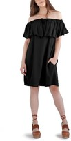 LAmade Women's Bella Off The Shoulder Twill Shift Dress