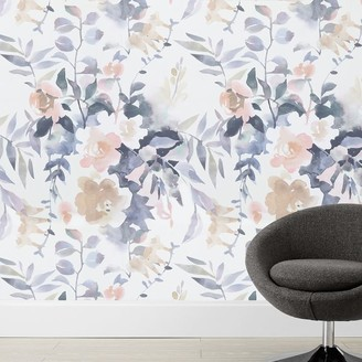 Pottery Barn Teen Watercolor Floral Wallpaper