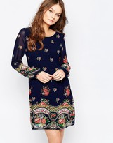 Yumi Long Sleeve Shift Dress