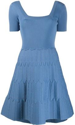 Sandro Paris Studded Pleat Dress