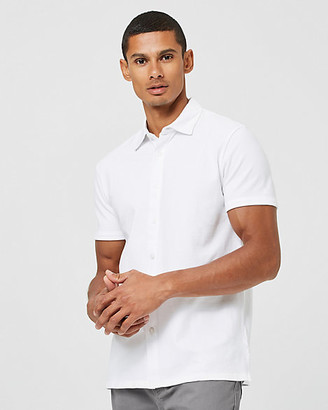 Le Château Knit Slim Fit Short Sleeve Shirt