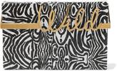 Charlotte Olympia Wild zebra-print python clutch