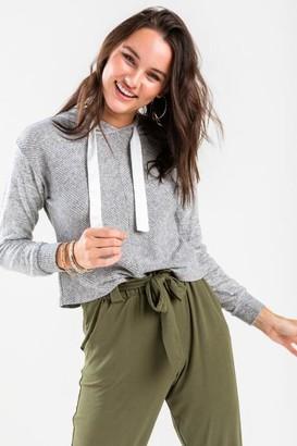 francesca's Bailey Sweatshirt Hoodie - Gray