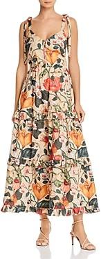 Atelier 1756 Moro Cotton Floral Print Dress