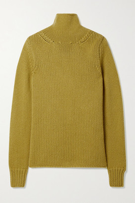 Gabriela Hearst Velimir Cashmere Turtleneck Sweater - Lime green