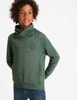 Marks and Spencer Cotton Rich Cowl Neck Sweatshirt (3-14 Years)