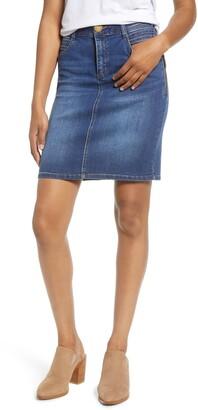 Wit & Wisdom Side Zip Denim Skirt