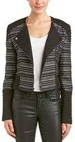 BCBGMAXAZRIA Women's Brock Metallic Stripe Jacket