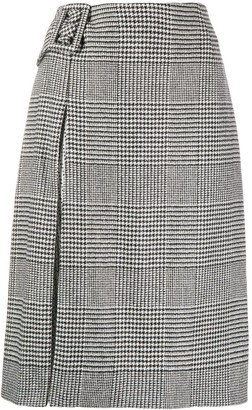 Ermanno Scervino Houndstooth Print Skirt