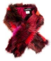 Adrienne Landau Multicolor Fox Stole