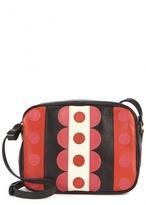 Carmen appliqué leather cross-body bag
