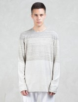 Helmut Lang Gradient Heather Terry L/S Sweatshirt