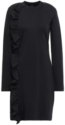 Victoria Victoria Beckham Ruffle-trimmed Ponte Mini Dress