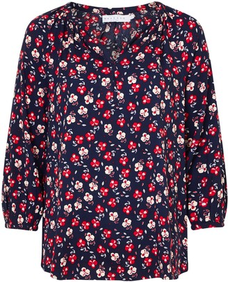 Collection WEEKEND by John Lewis Lavinia Floral Smock Top, Navy